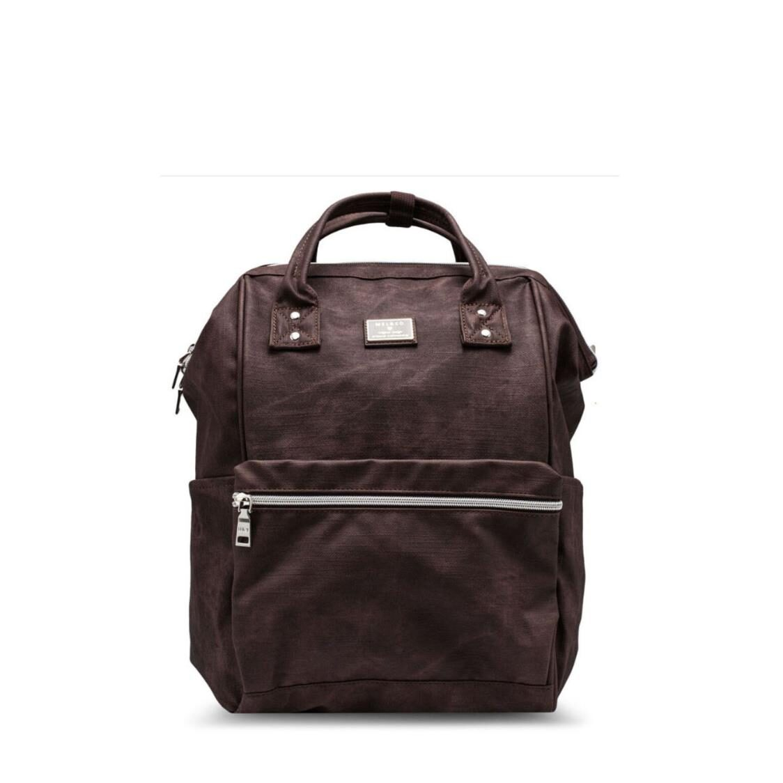 MelCo Distressed Faux Leather Backpack