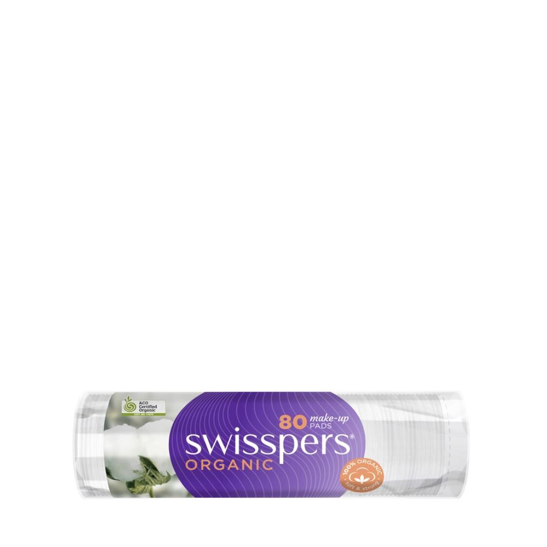 Swisspers Organic Make Up Pads Rounds 80 Sheets
