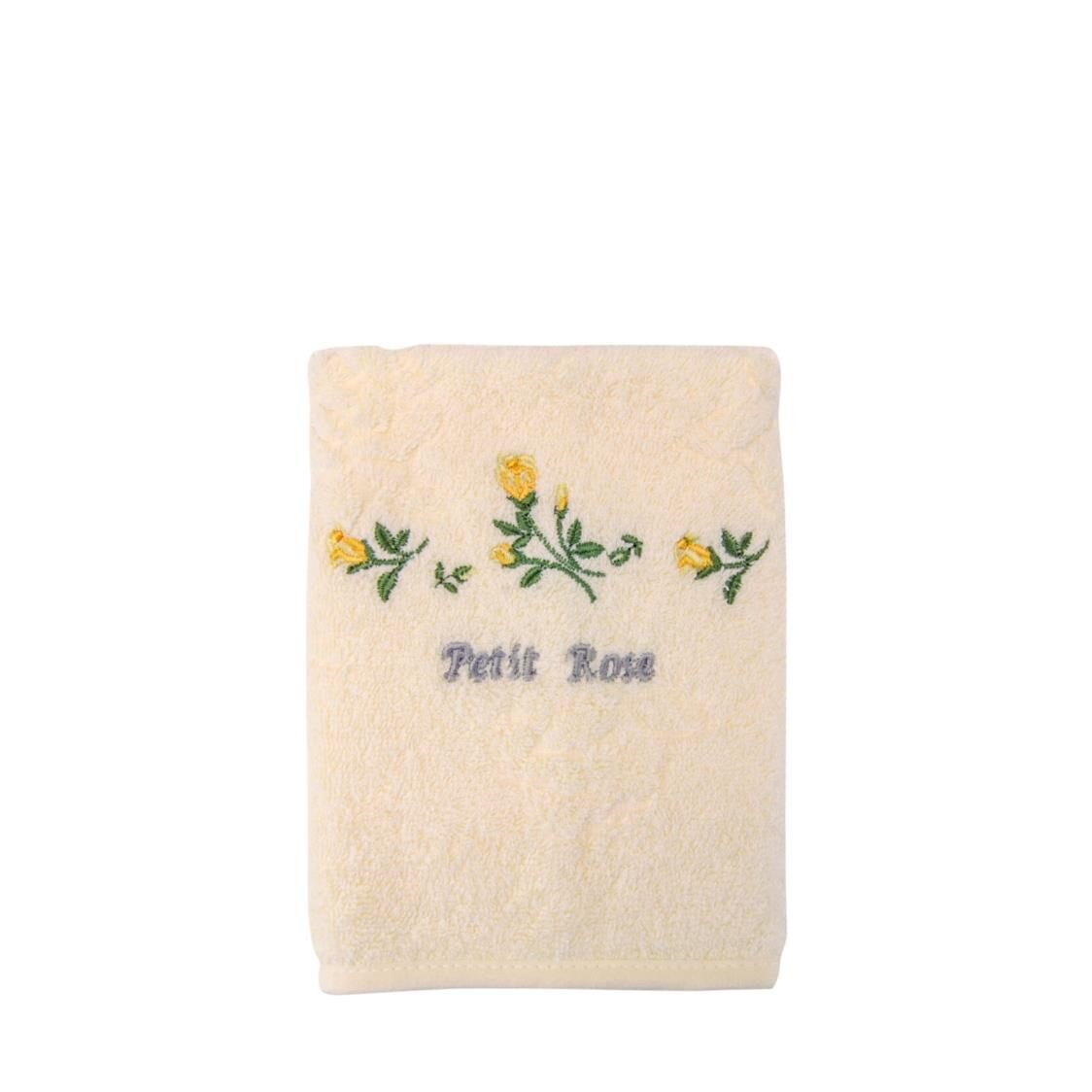 Petit Rose 100 Combed Cotton Face Towel Yellow