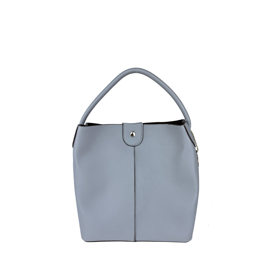 Perllini  Mel Bucket Sling Bag With Removable Pouch Light Grey PY9919-LGr