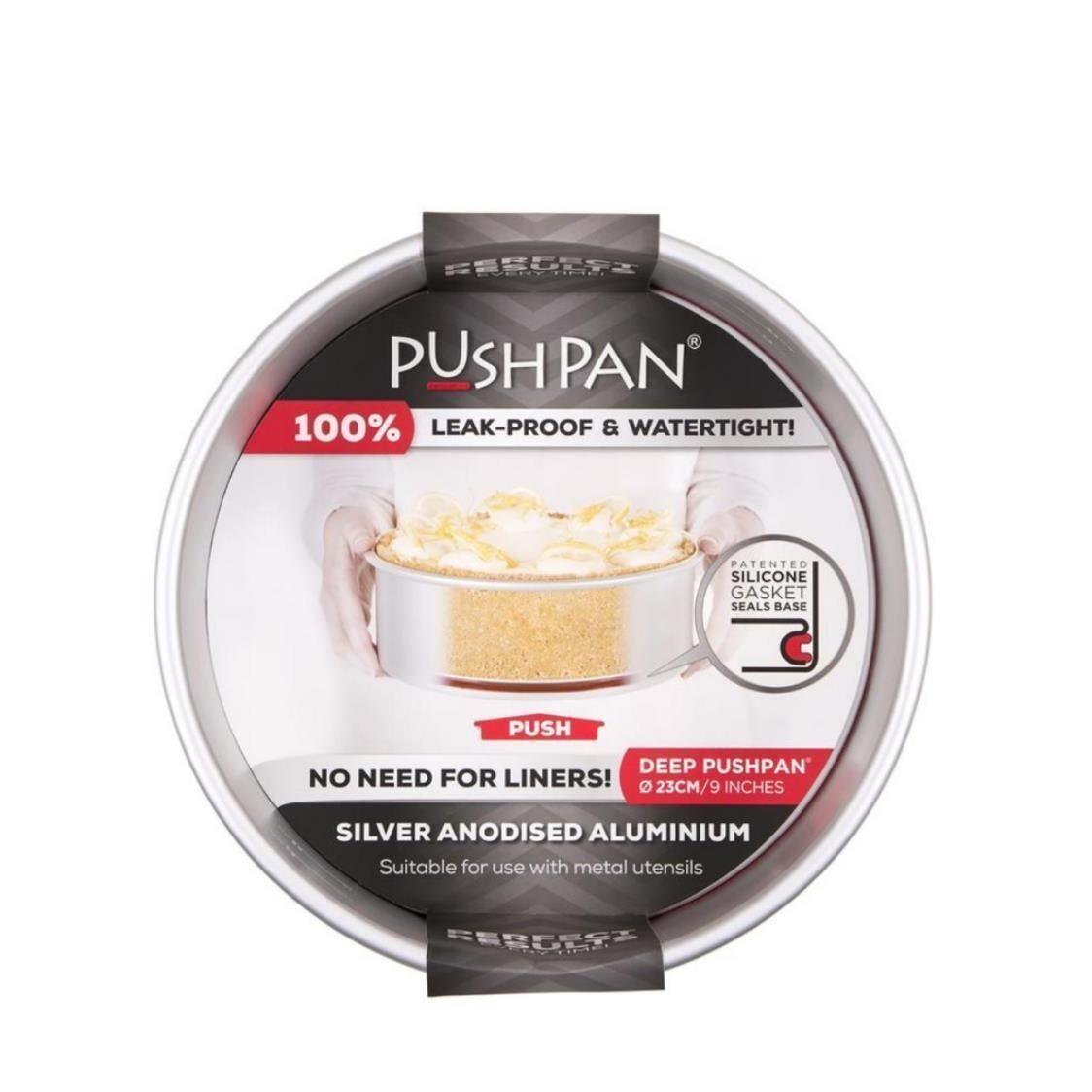Pushpan Anodised aluminium Pushpan Deep Round Tin 9 23 cm