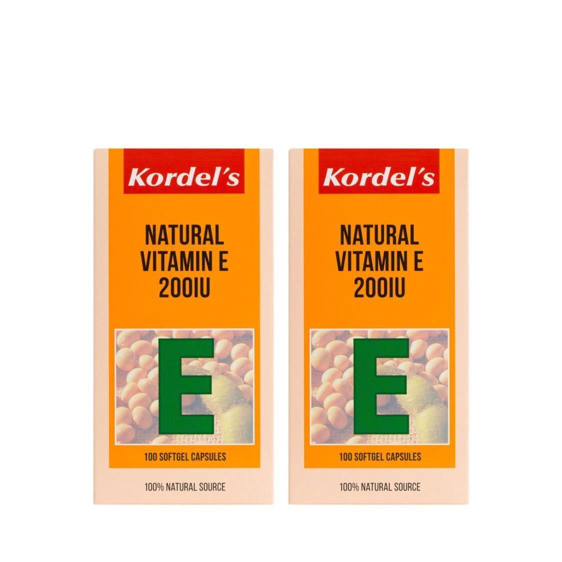Natural Vitamin E 200IU 100sx2