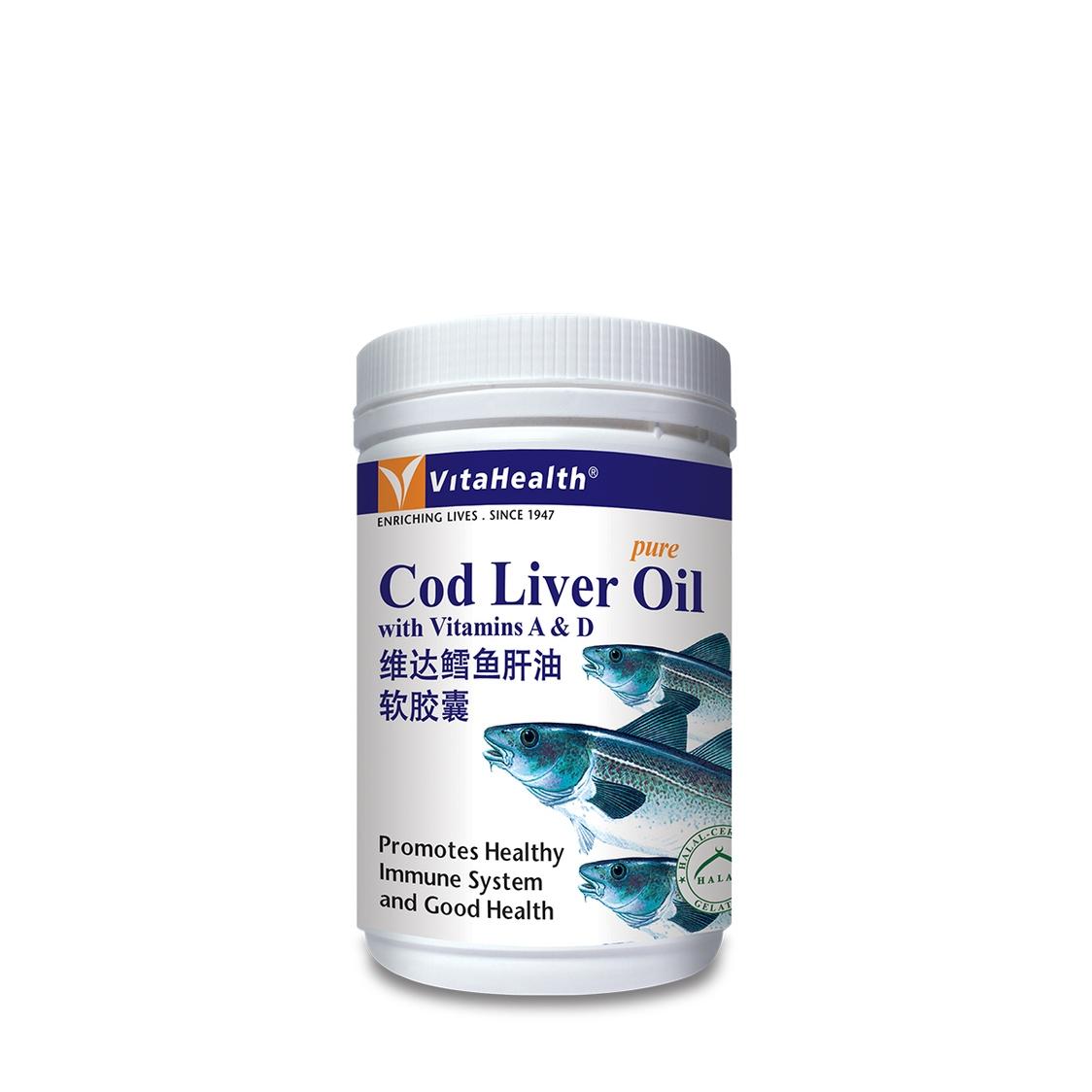 VitaHealth Cod Liver Oil 500 Softgels