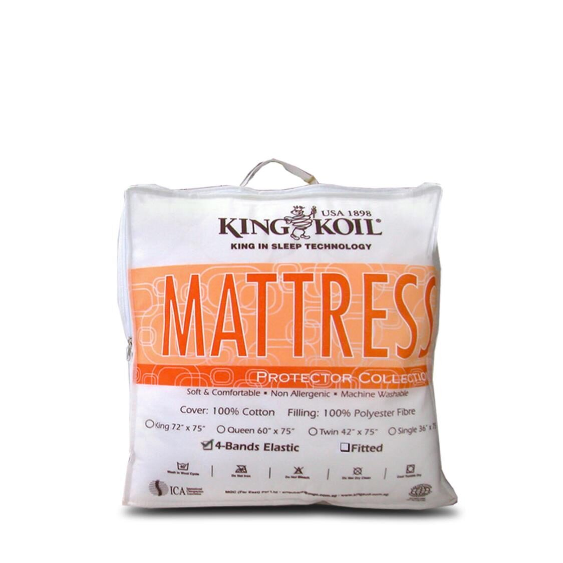 King Koil Cotton Mattress Pad Fitted