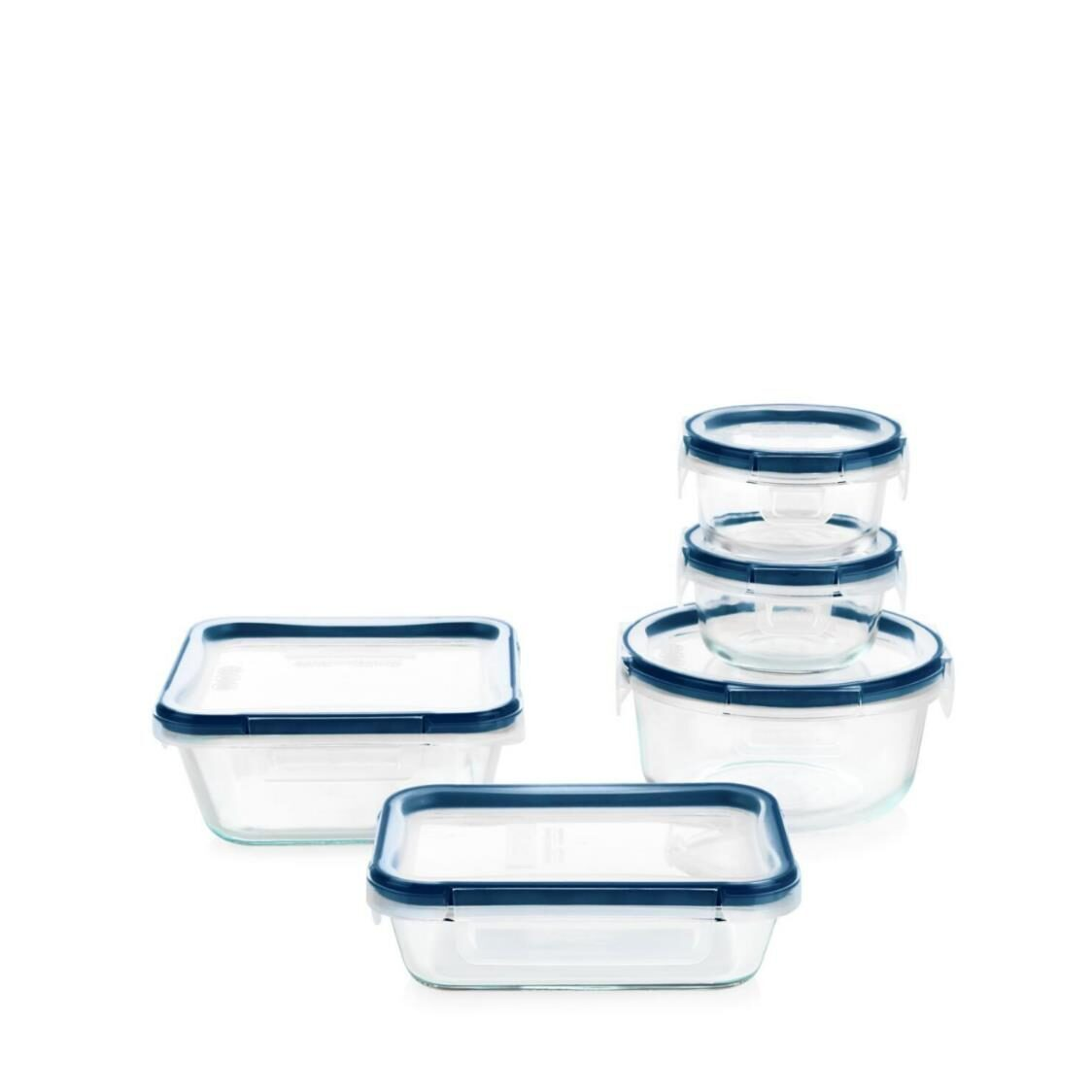 Pyrex FreshLock Plus Glass Storage with Microban 10pc Set