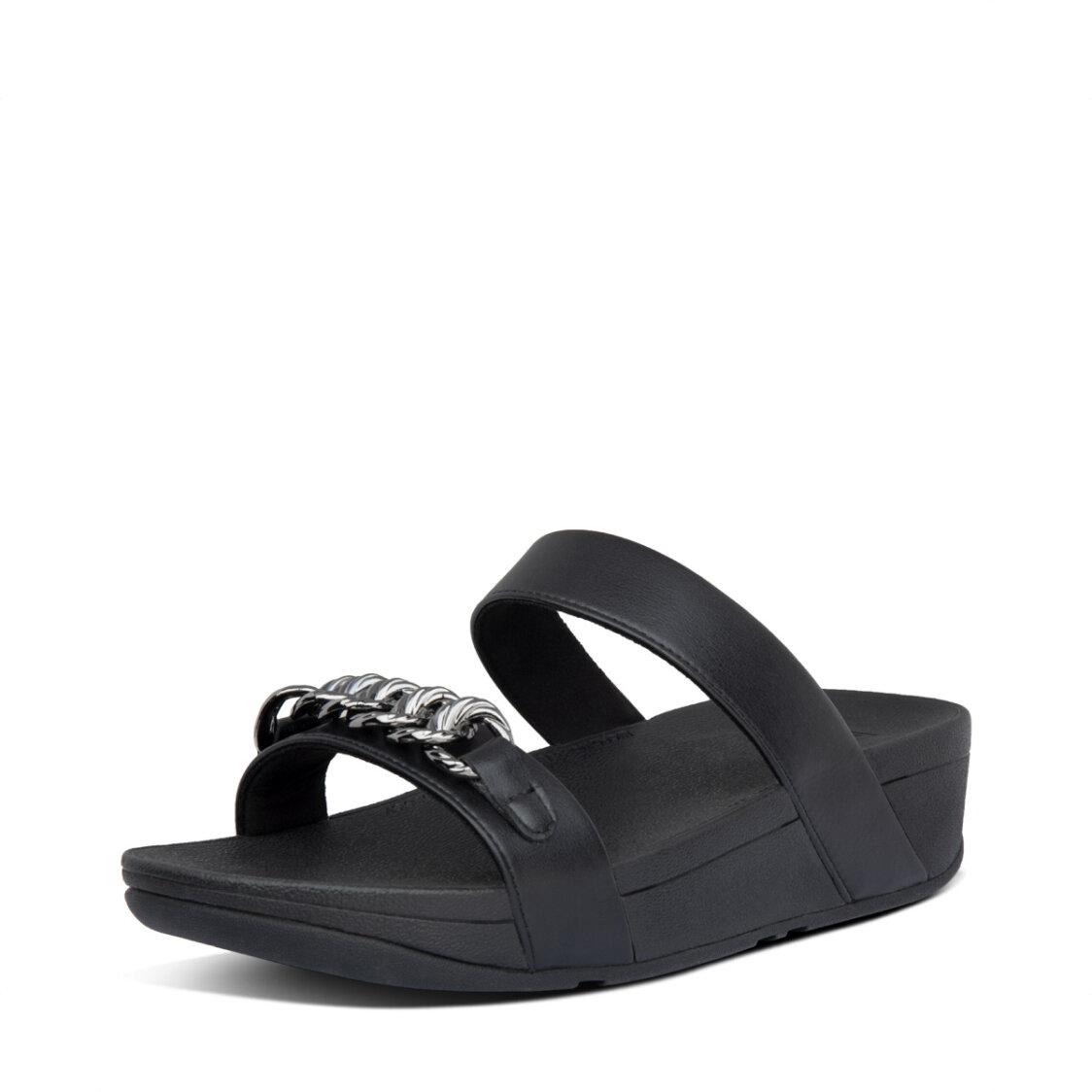 Fitflop Lottie Chain Slides All Black
