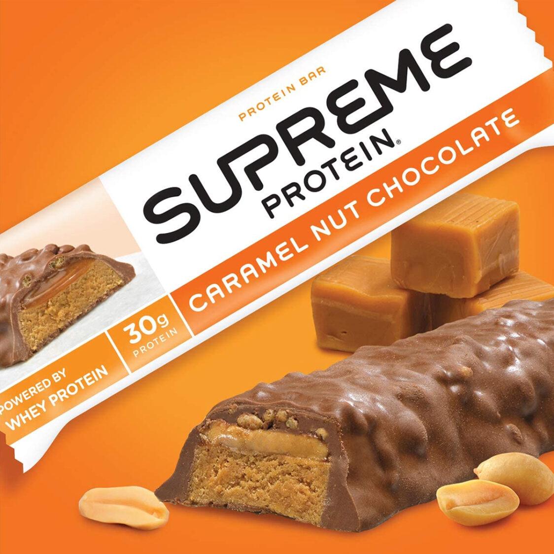 Supreme Protein Caramel Nut Chocolate Box 12 Bars