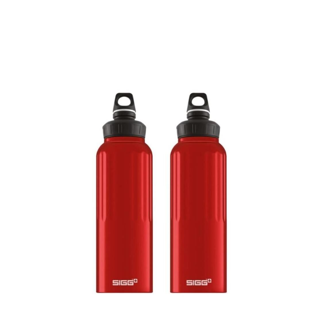 Sigg 2-pc Set 15L Traveller Wide Mouth Water Bottle - Red 852600 x 2