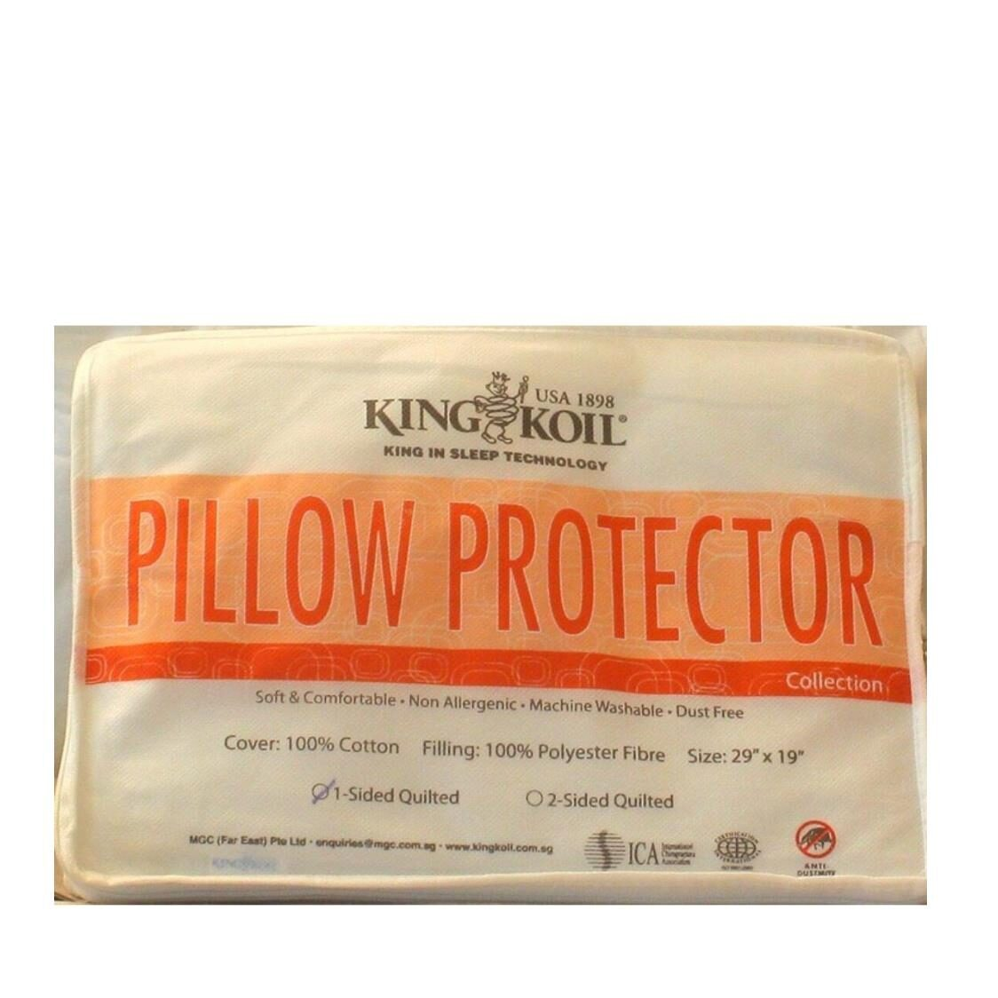 King Koil Cotton Pillow Pad Single Quilted
