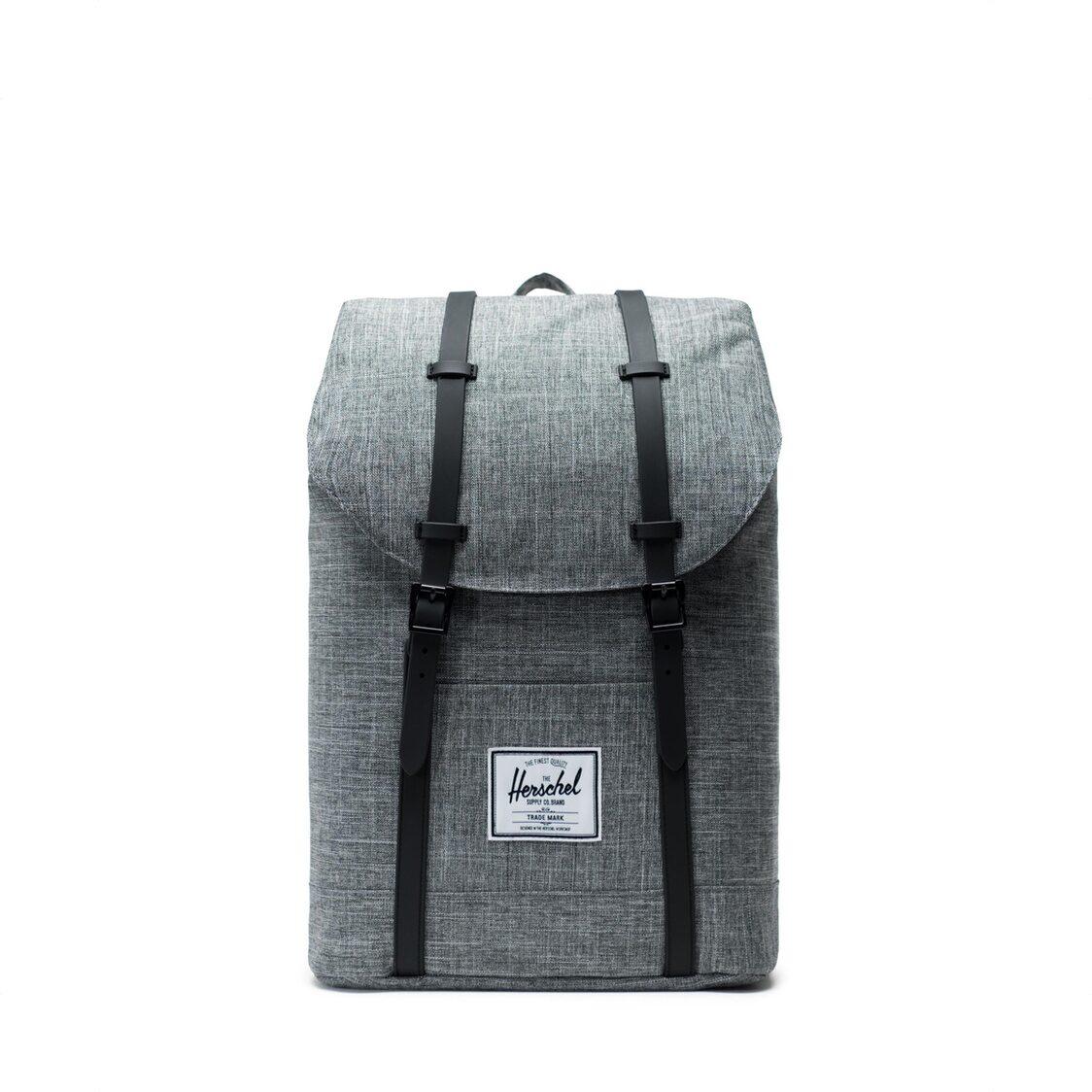Herschel Retreat Raven X  Black Backpack