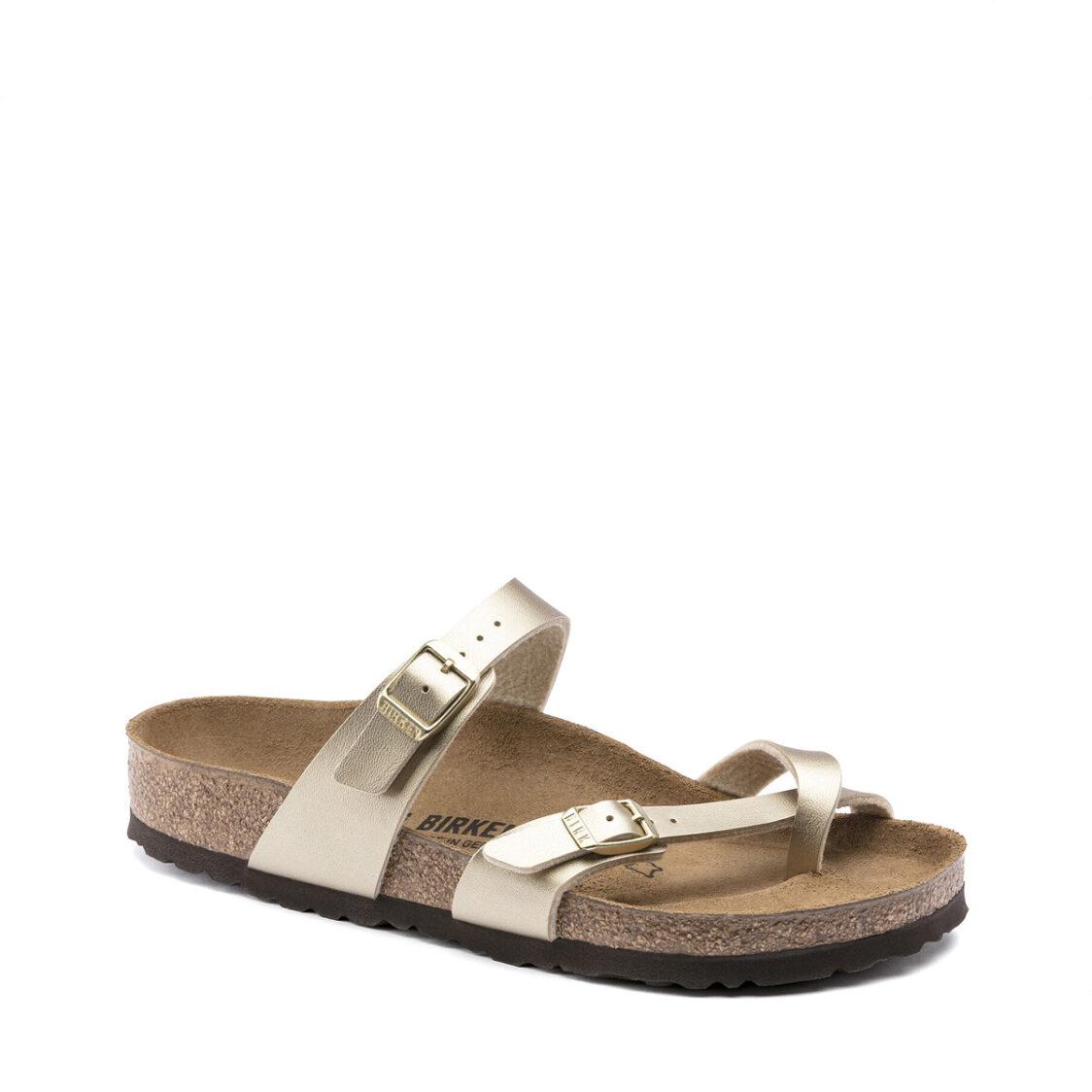 Birkenstock Mayari Birko-Flor Womens Regular Width Sandals Gold