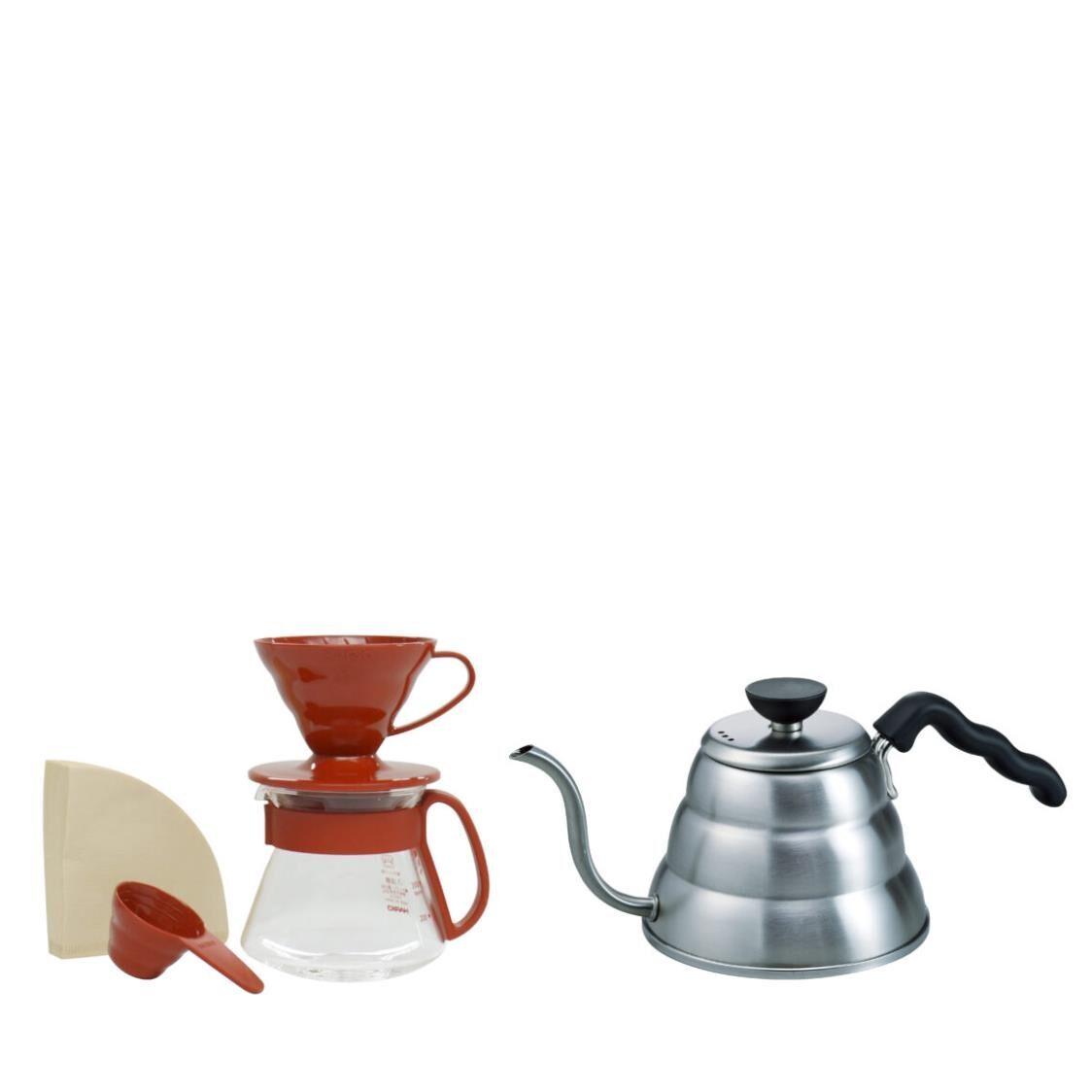 Hario V60 Craft Coffee Maker Set - White  VDSP-2012R-EX  VKB-100HSV