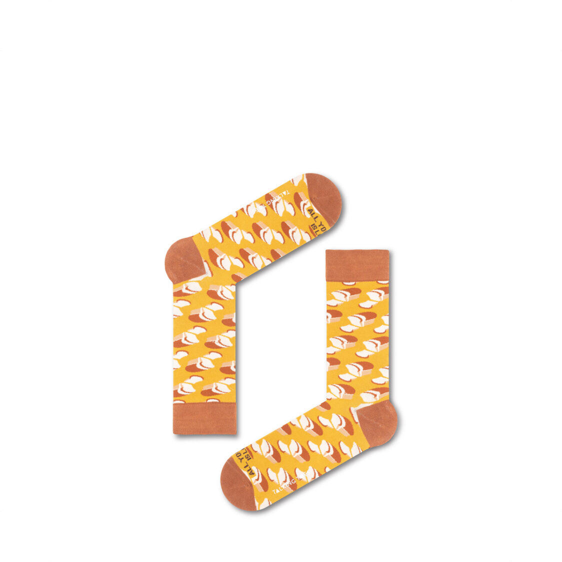 Talking Toes All You Need is Love Bread Socks