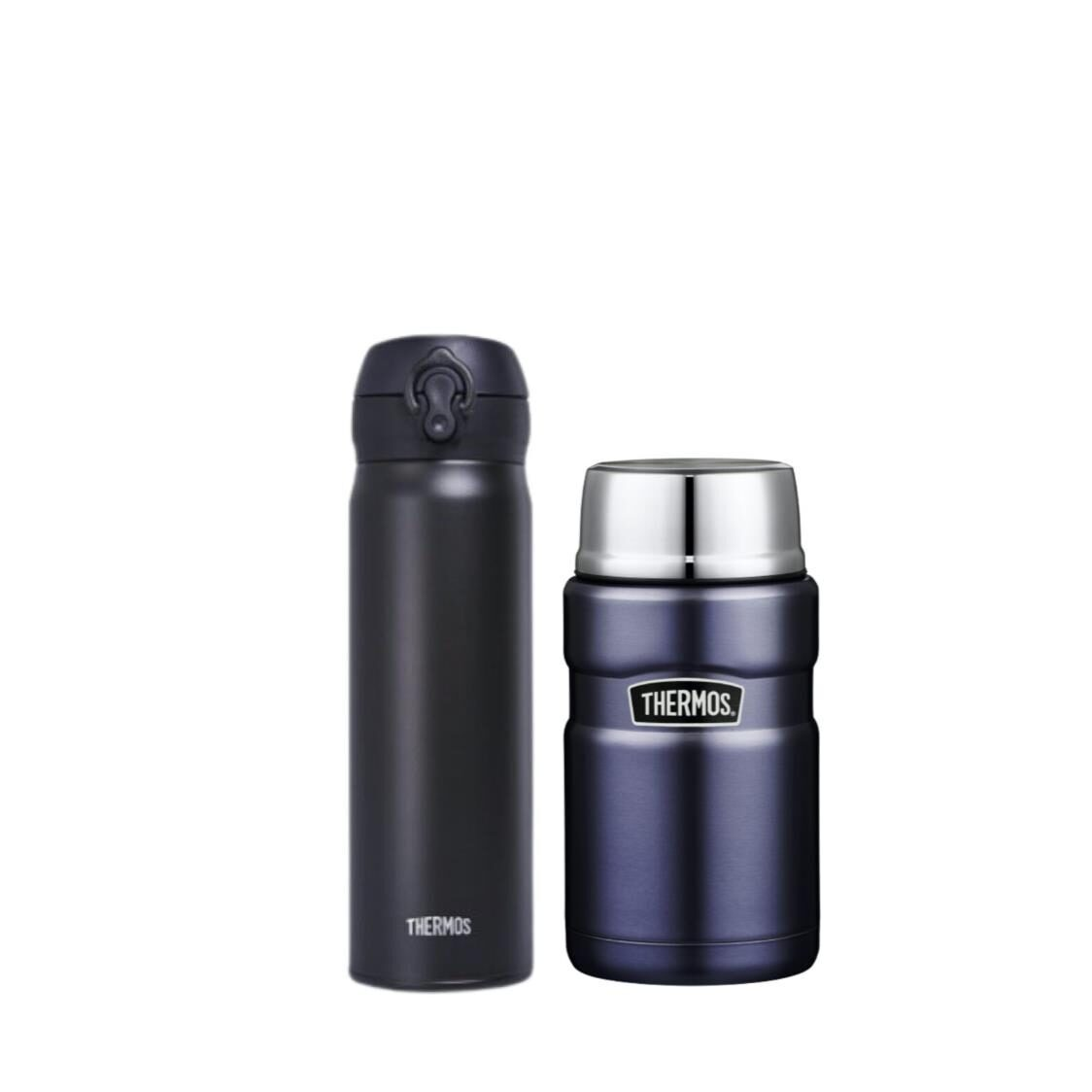 Thermos 05L Stainless Steel One Push Tumbler  071L Stainless Steel Food Jar Bundle Set