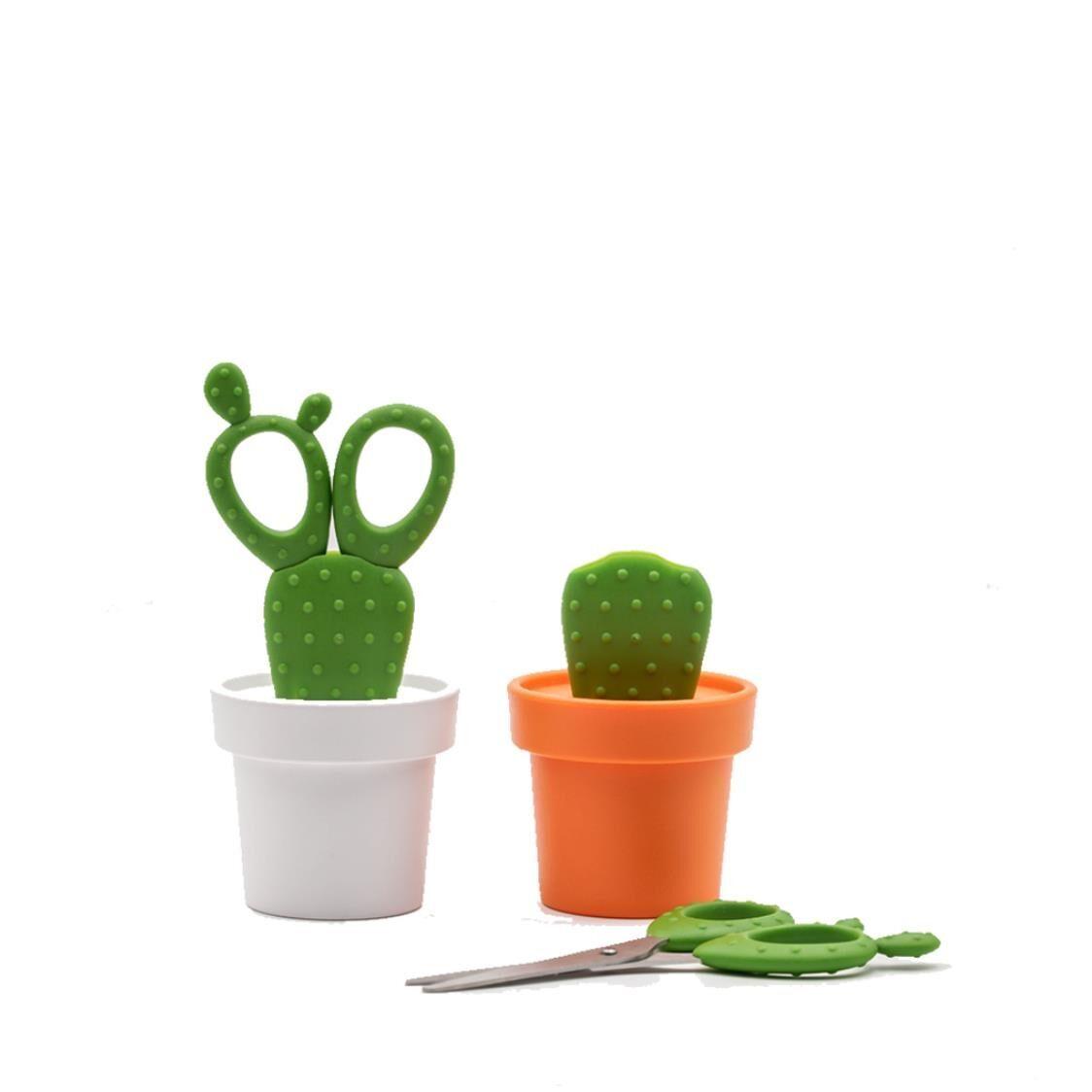 Qualy Cactus Scissors White and Green