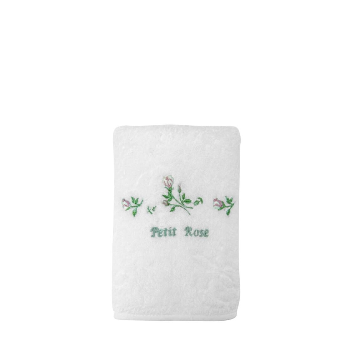 Petit Rose 100 Combed Cotton Hand Towel White