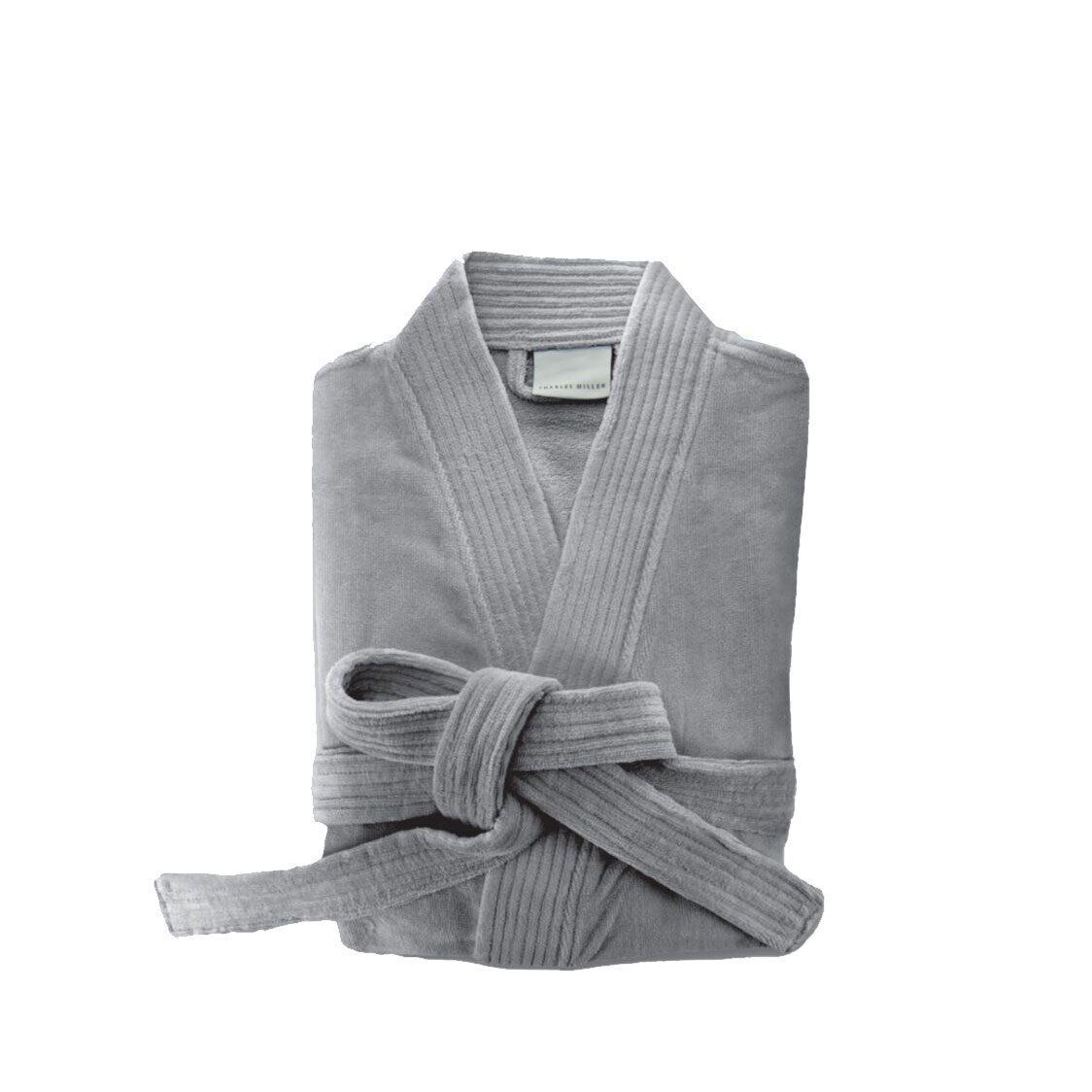 Charles Millen Como-Kimono Bathrobe M-Steel Grey