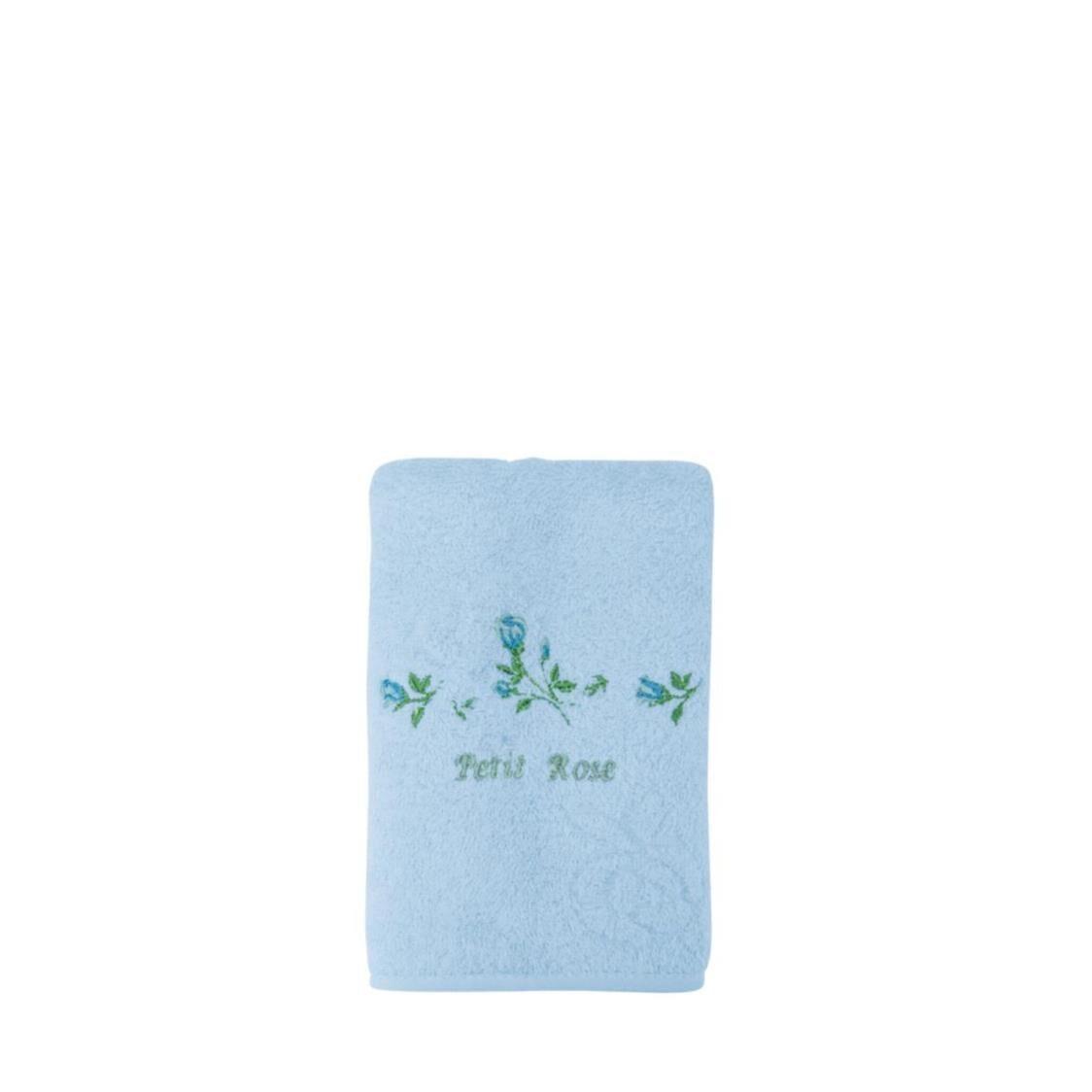 Petit Rose 100 Combed Cotton Hand Towel Blue