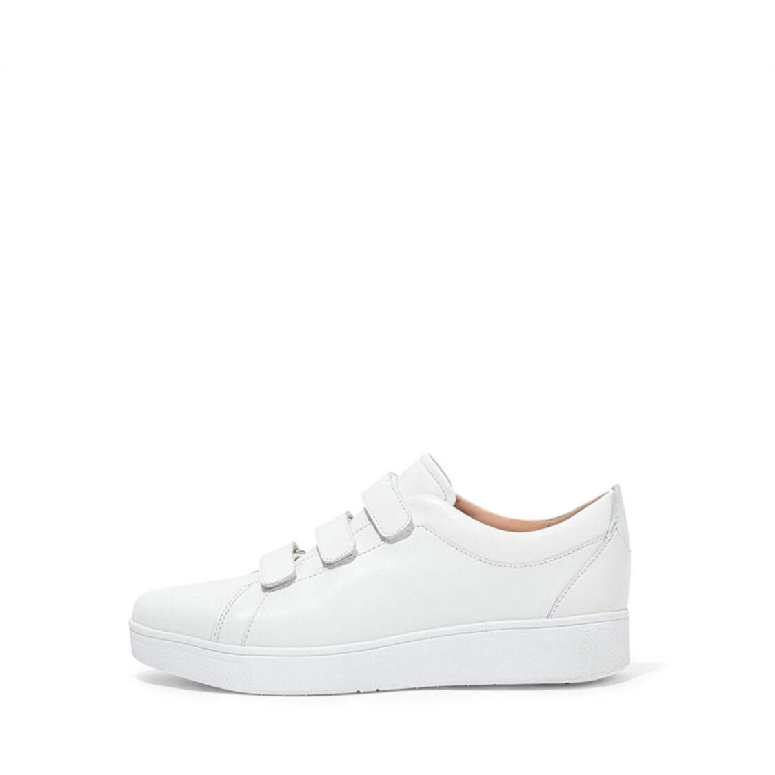 Fitflop Rally Quick Stick Fastening Leather Sneakers Urban White EL8-194