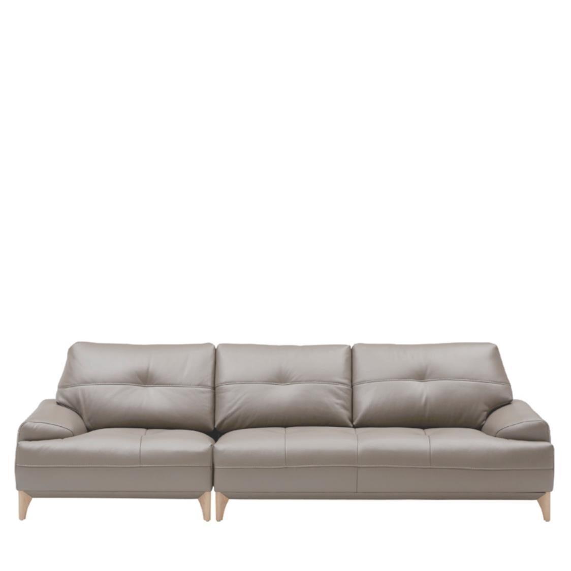 Iloom Boston Leather Sofa For 4  L390 Nude