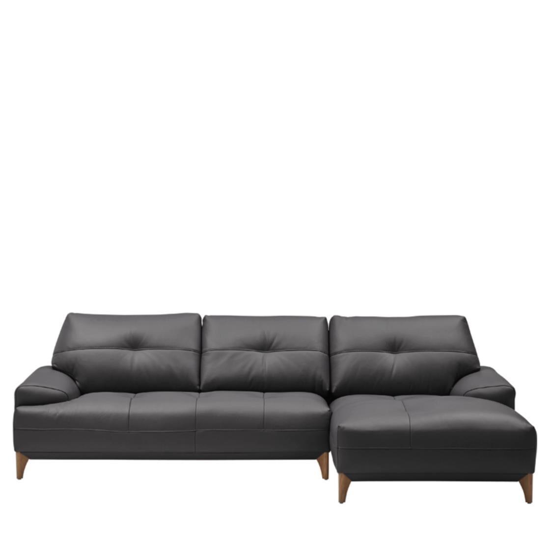 Iloom Boston Leather Couch R L391 Shadow Grey