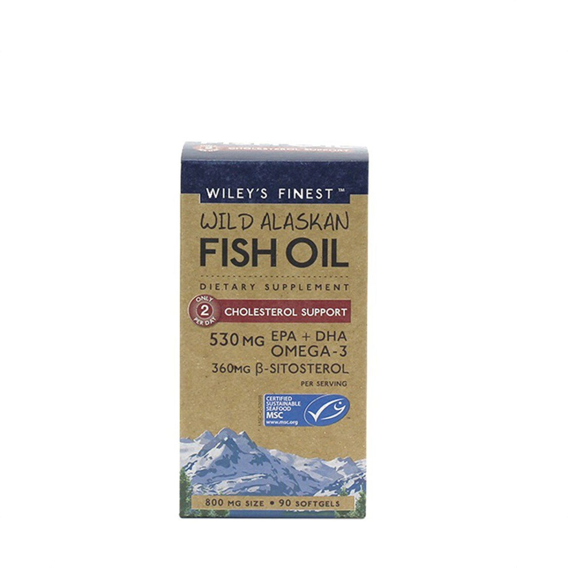 WileyS Finest Wild Alaskan Fish Oil Cholesterol Support 90 soft gels
