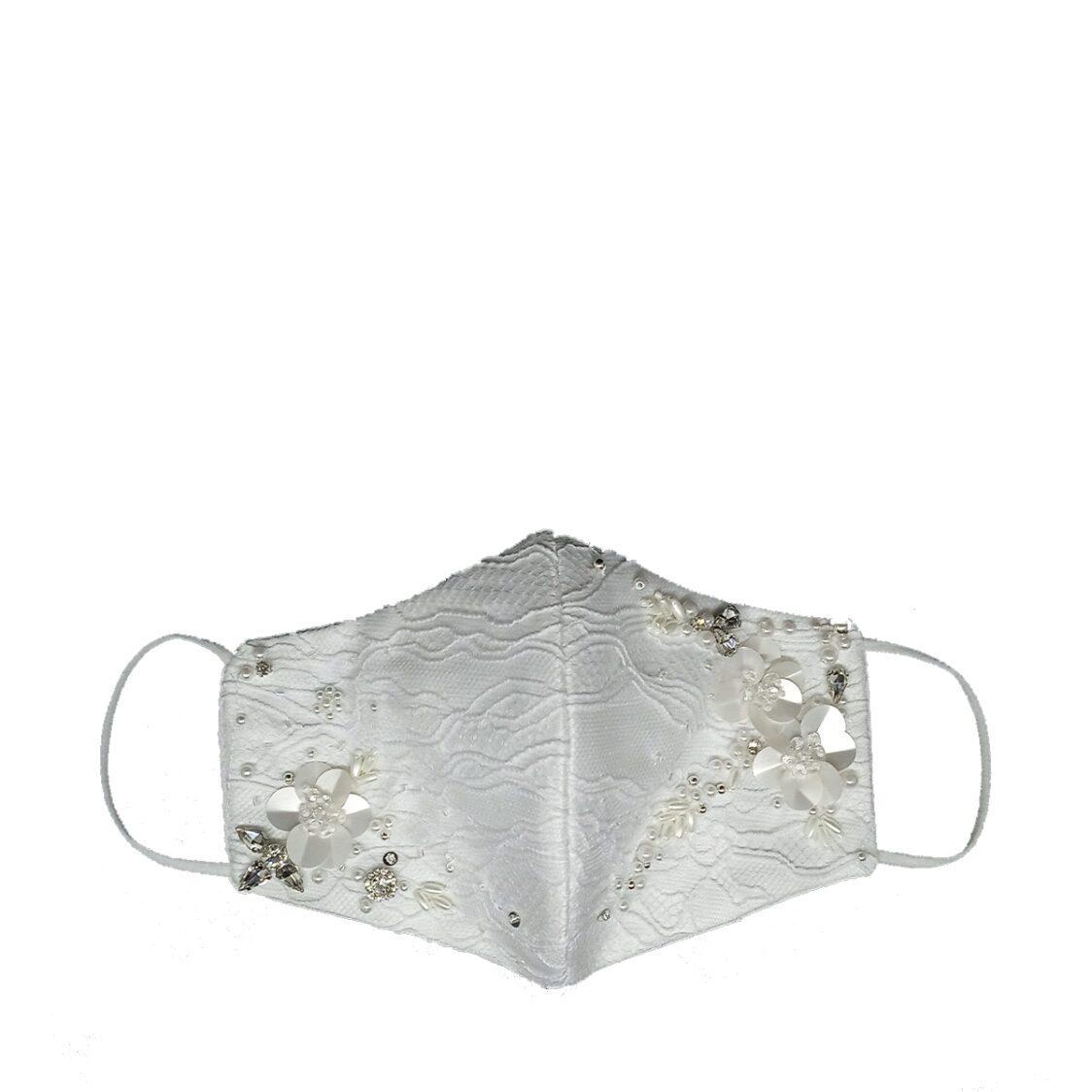 Gayatri Mask - Lace Beads White