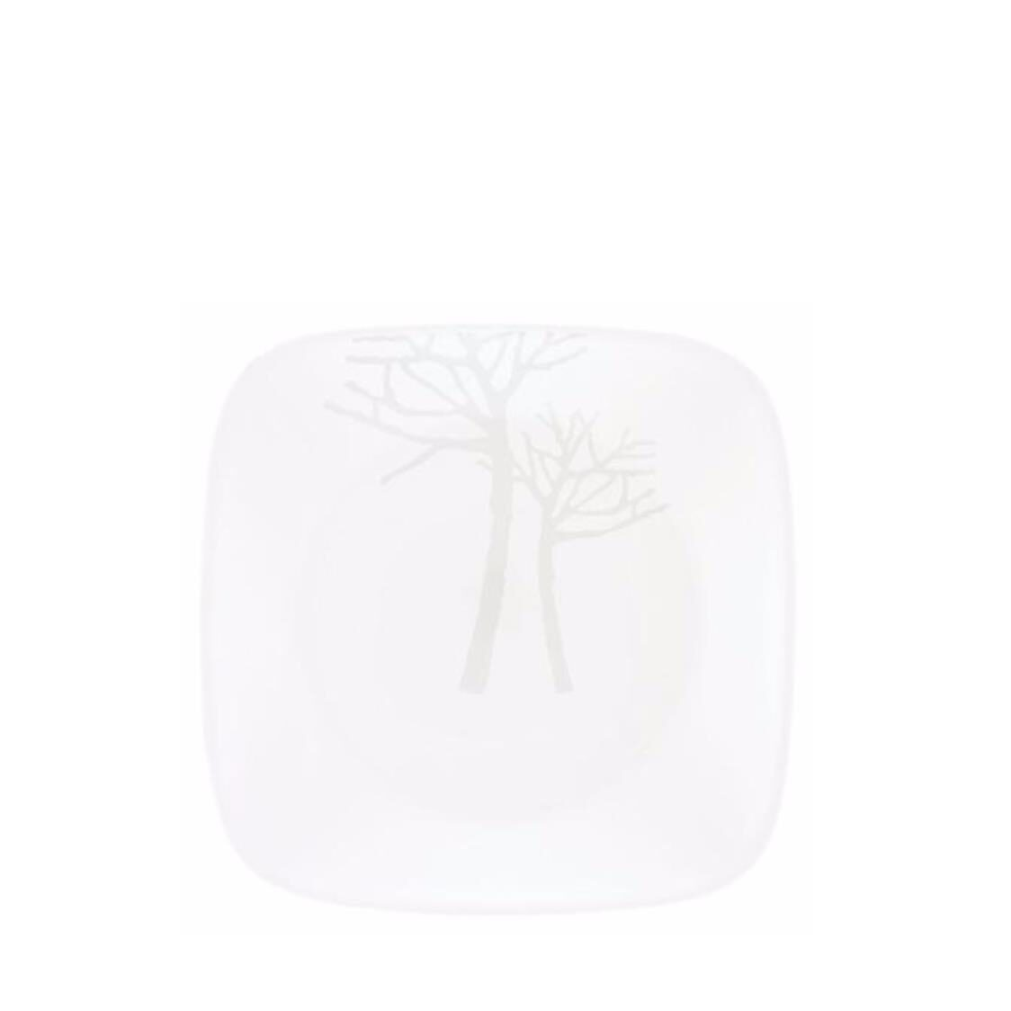 Corelle Square Round Bread  Butter Plate Frost