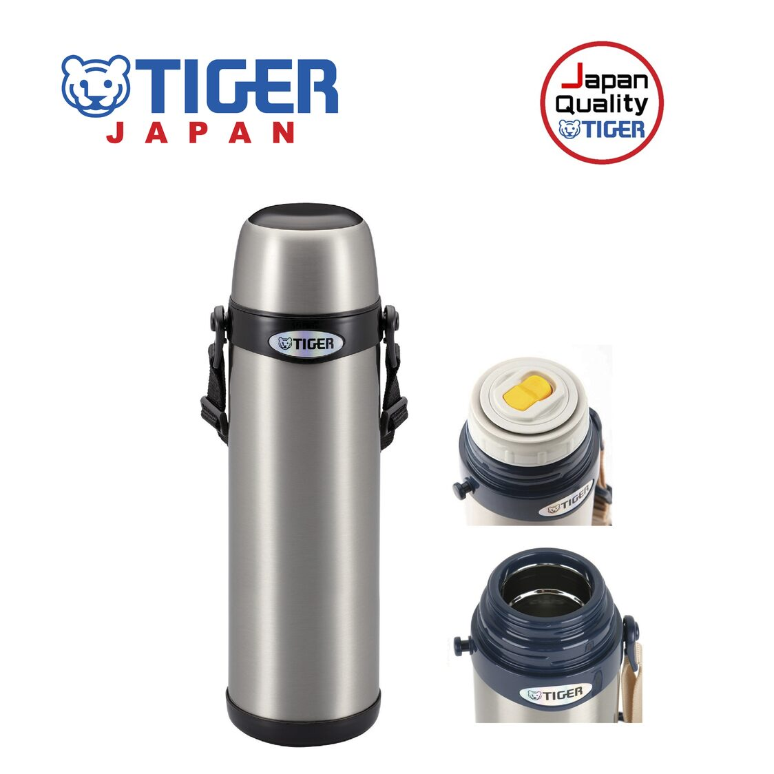 Tiger 1L Double Stainless Steel Vacuumised Bottle MBI-A100