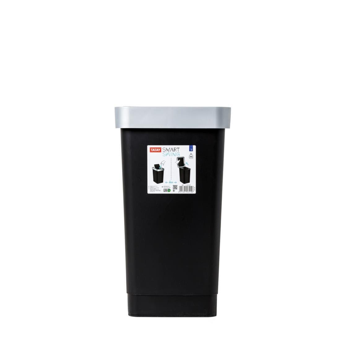 Tatay Swing Dustbin Smart 25L Black