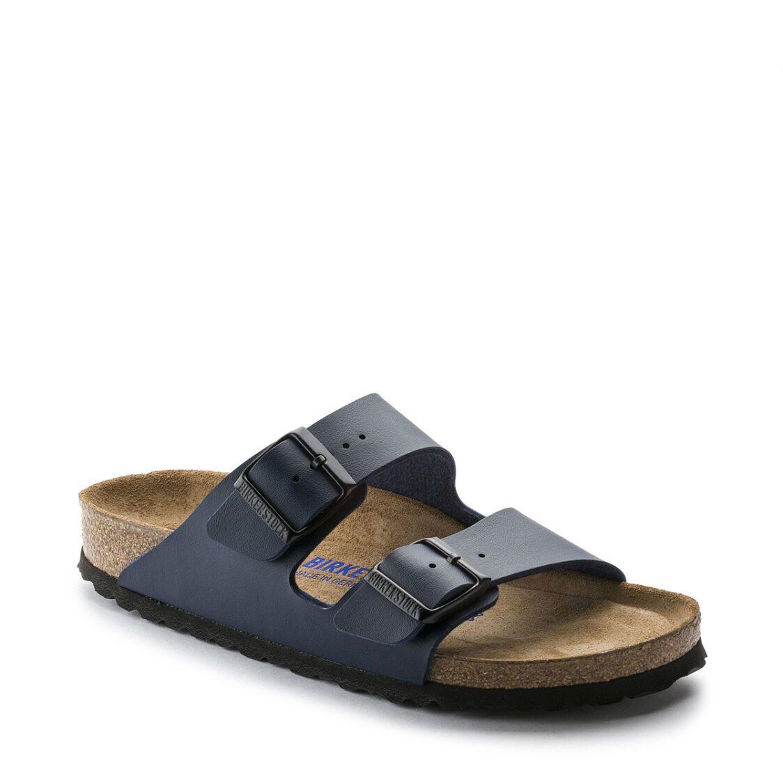 Birkenstock Arizona Birko-Flor Soft Footbed Unisex Regular Width Sandals in Blue