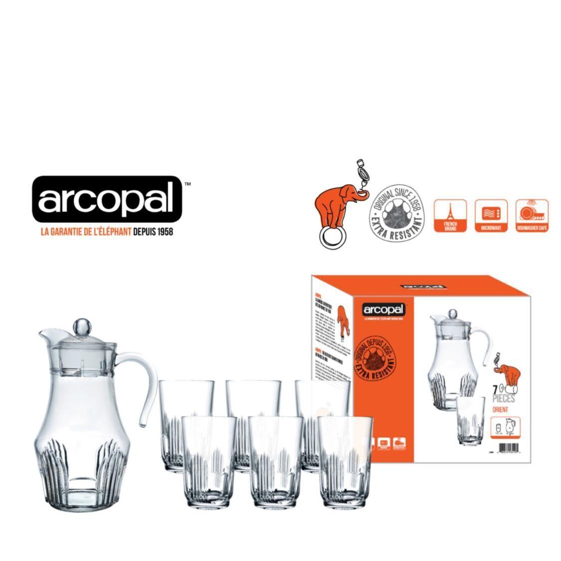 Arcopal Orient 7pc Water Set L4986