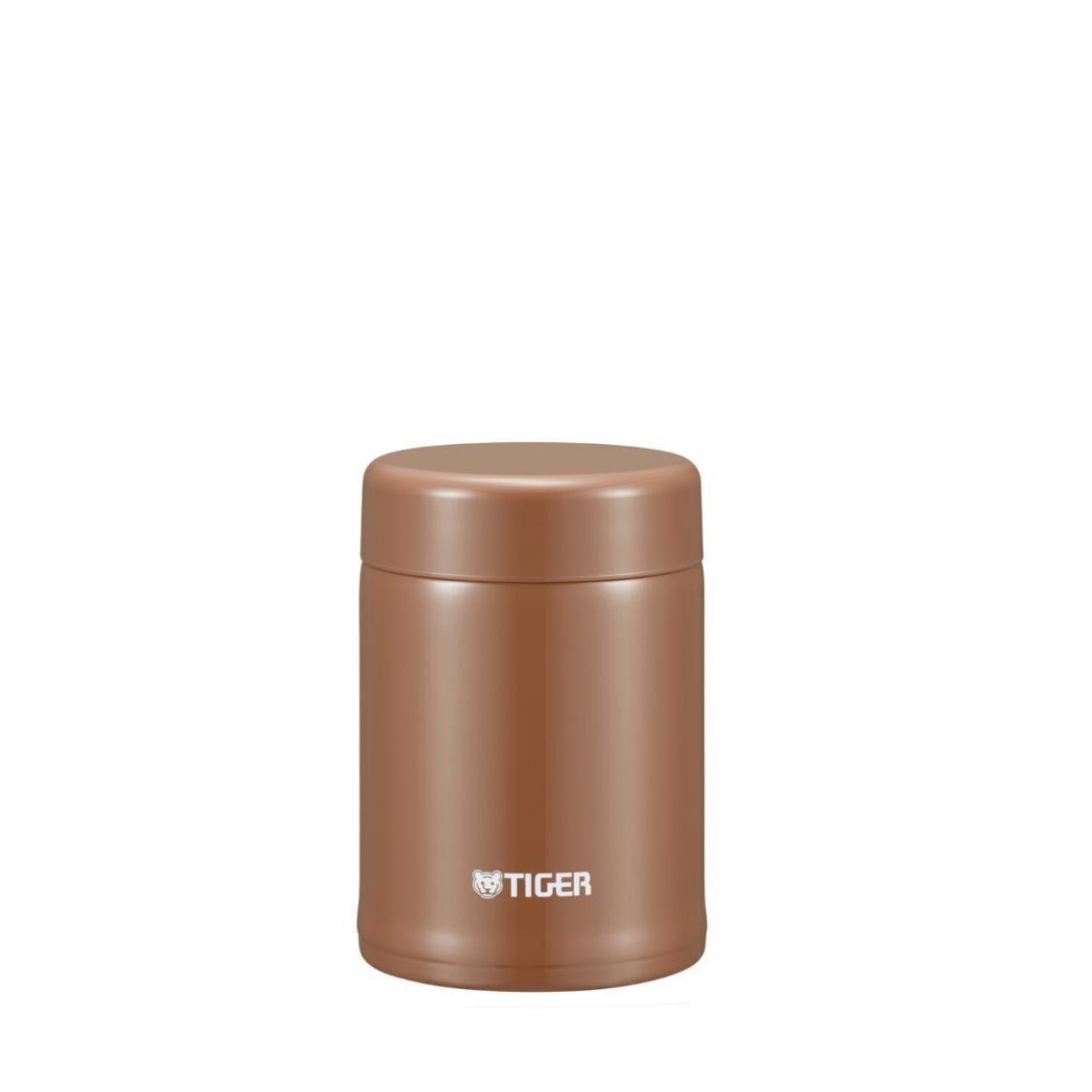 Tiger 250ml Double Stainless Steel Soup Porridge Cup Dark Caramel MCA-C025TC
