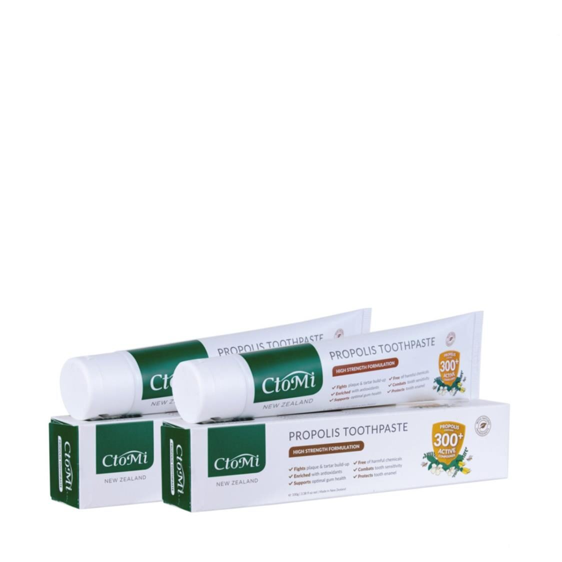 CtoMi Propolis Toothpaste Twin Pack