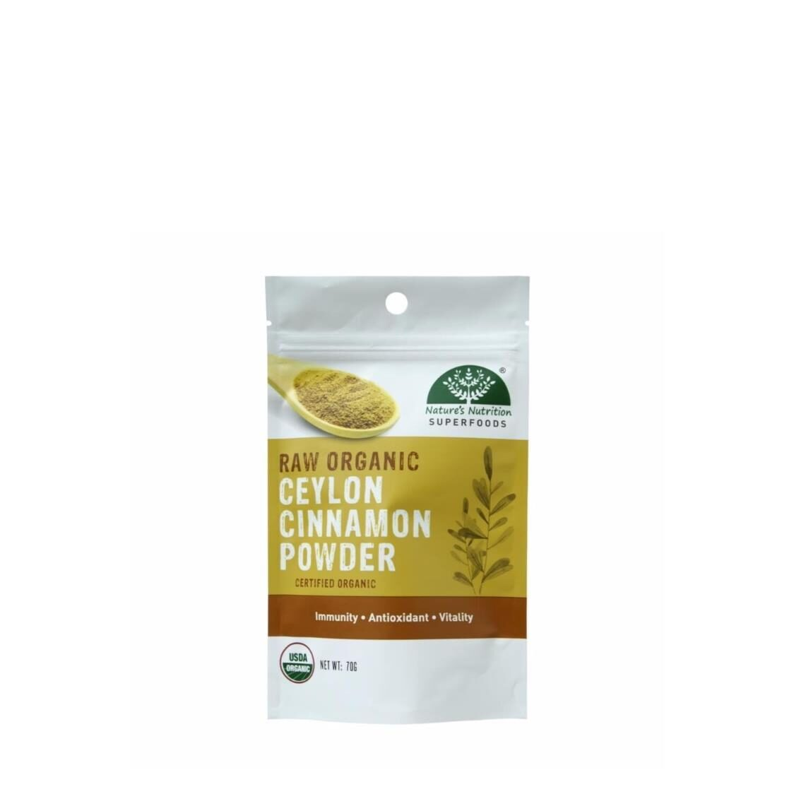 Natures Nutrition Organic Ceylon Cinnamon Powder 70g