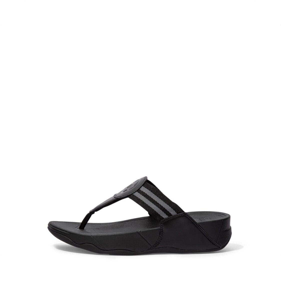 Fitflop Walkstar Toe-Post Sandals All Black Dx4-090