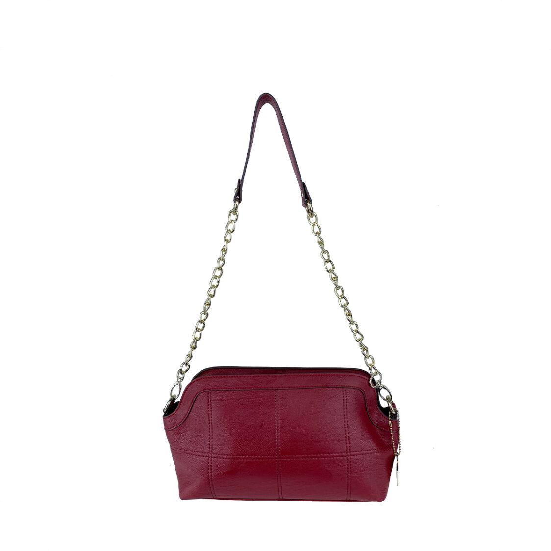 Perllini  Mel Chain Shoulder Bag With Sling Strap Red