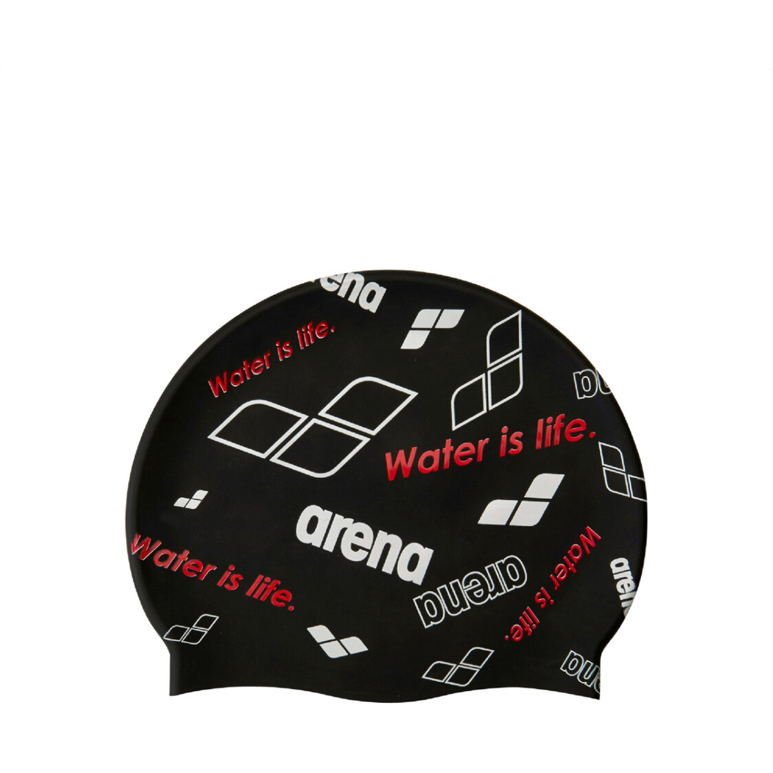 Arena Adult Swim Cap White Black Red AAAMS9600BKRD