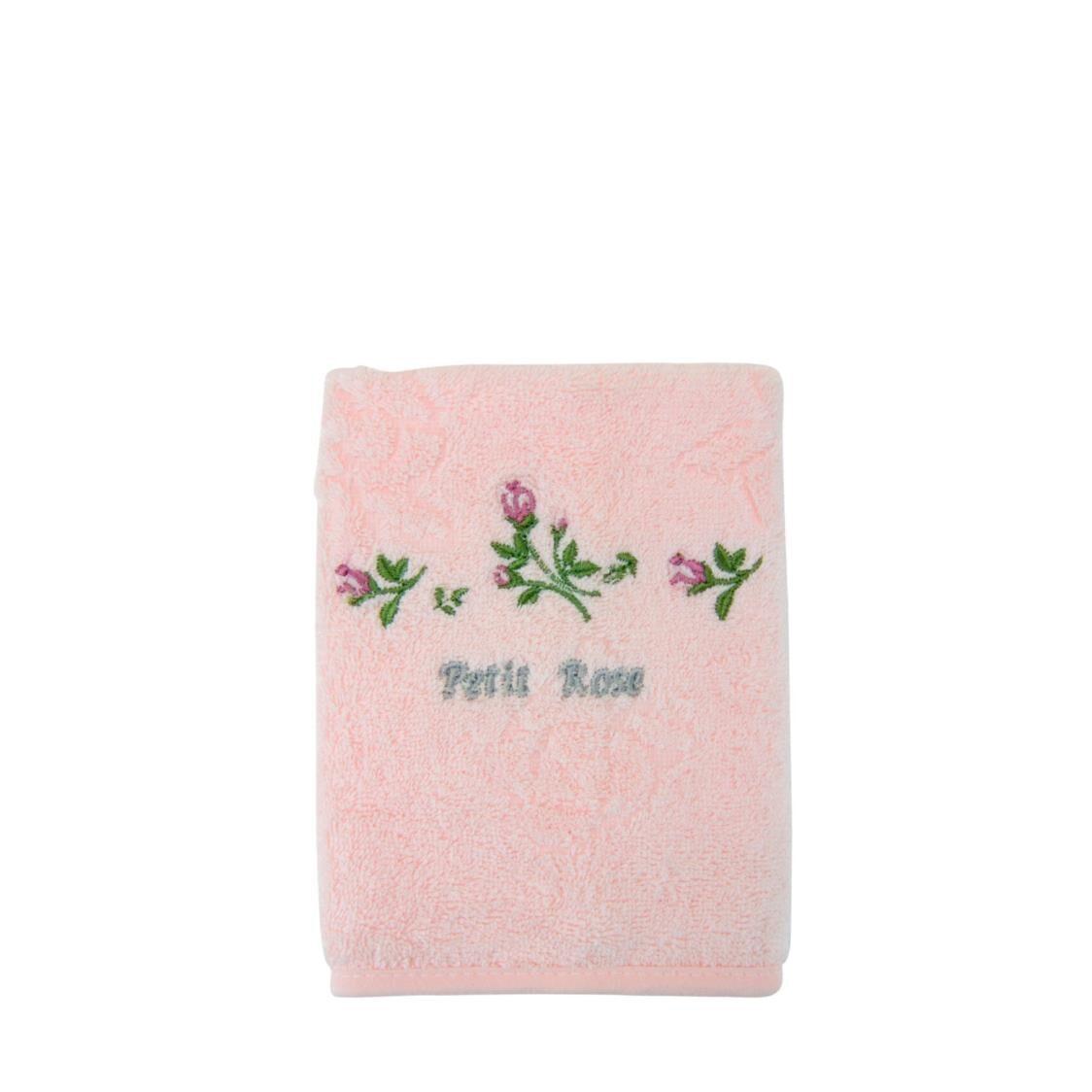 Petit Rose 100 Combed Cotton Face Towel Pink