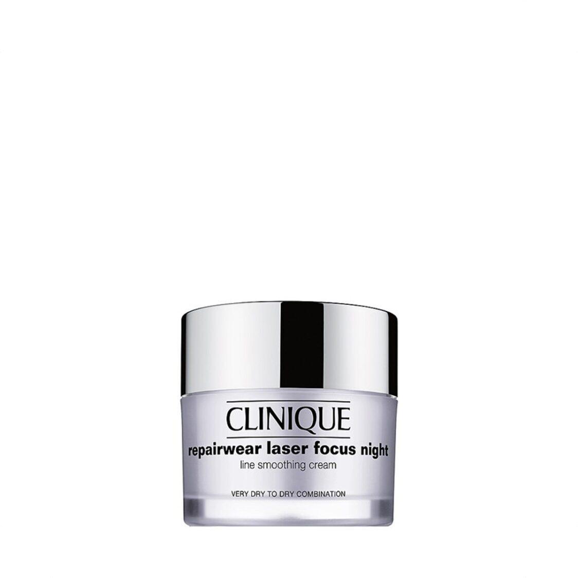 Clinique Repairwear Laser Focus Night Line Smoothing Cream Dry Combination 50ml