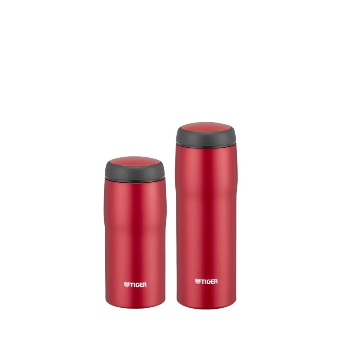 Tiger Bundle - 360ml  480ml Double Stainless Steel Mug Set Matte Red