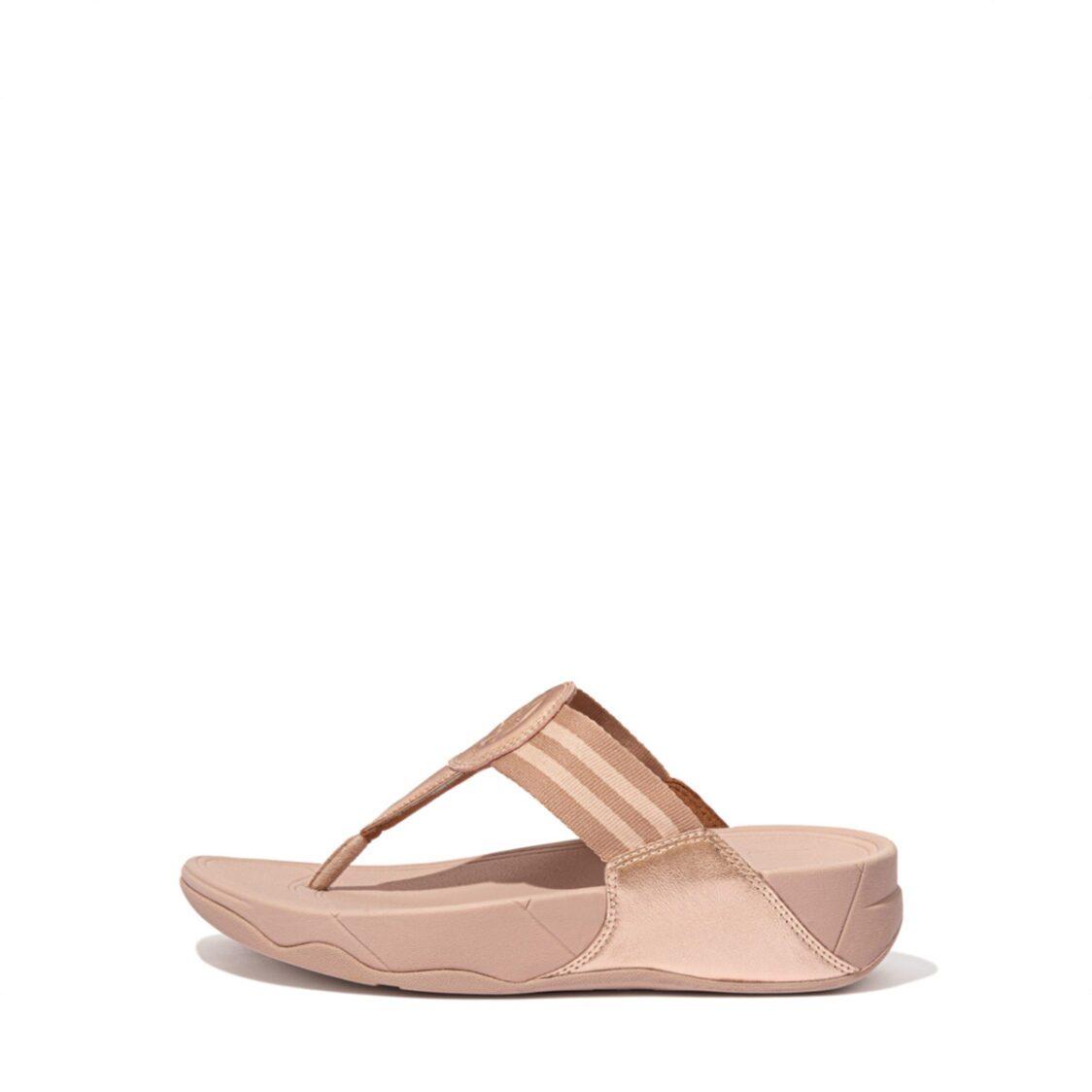 Fitflop Walkstar Toe-Post Sandals Rose Gold Dx4-323
