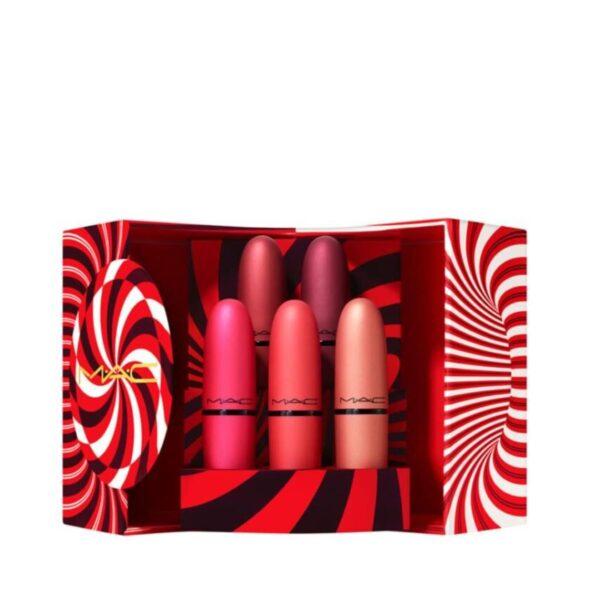 MAC Mistletoe Matte Powder Kiss Lipstick x 5