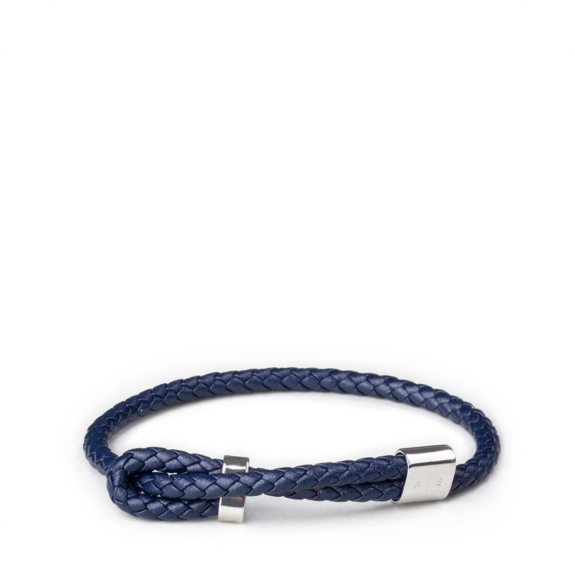 Wve Bracelet - Navy Leather