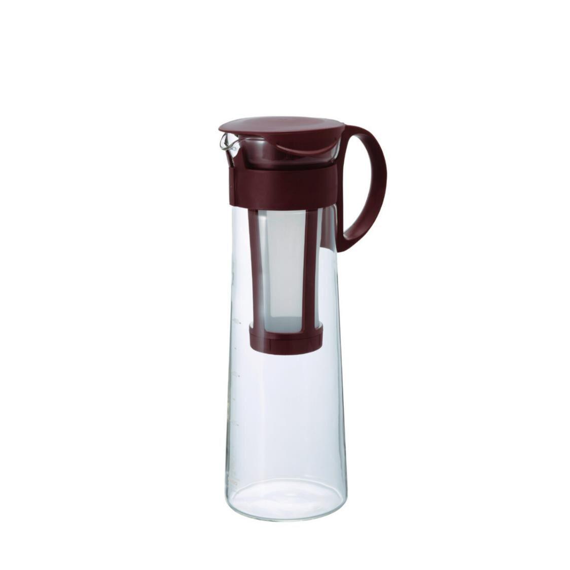 Hario Mizudashi Cold Brew Coffee Pot Water Pitcher With Built-in Strainer Brown 1000ml