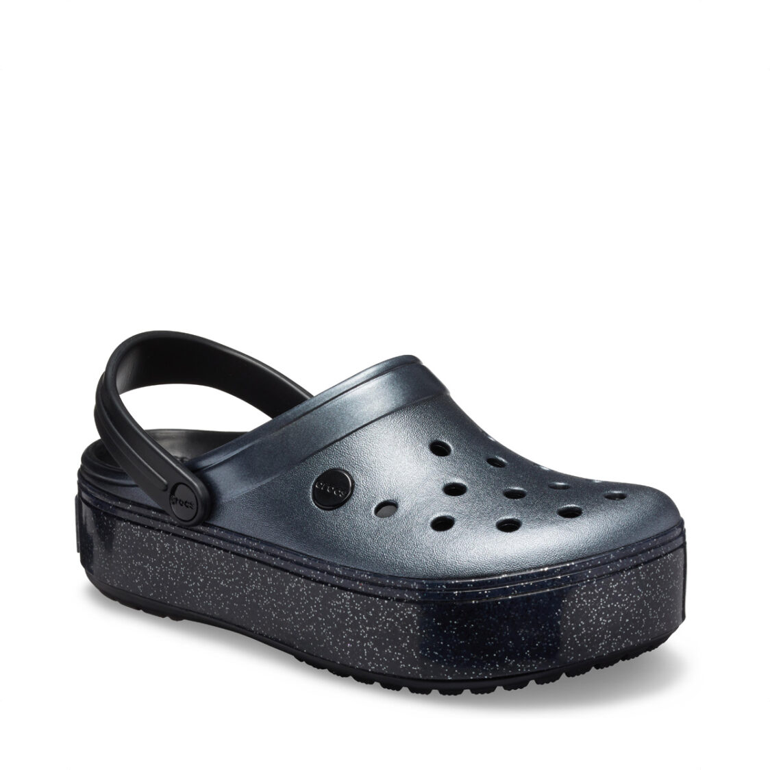 Crocs Crocband Platform Clog 205912-002 Metallic Black