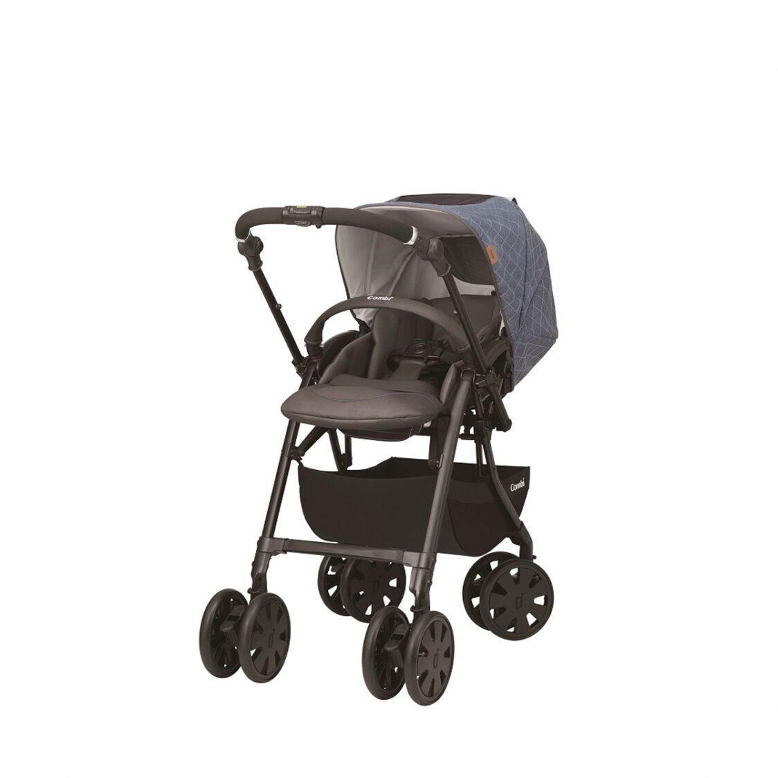 Combi Crossgo Ceiestial Blue Stroller 136 Months 67KG Auto 4 Swivel wheels