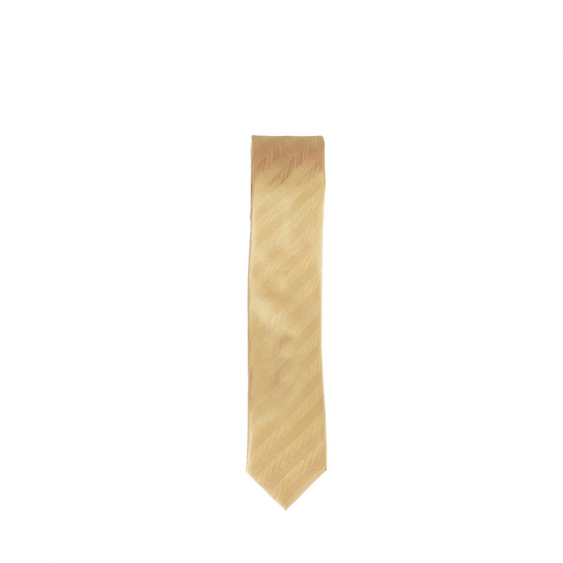 Pierre Cardin 100 Micro Polyester 7cm Gold Tie
