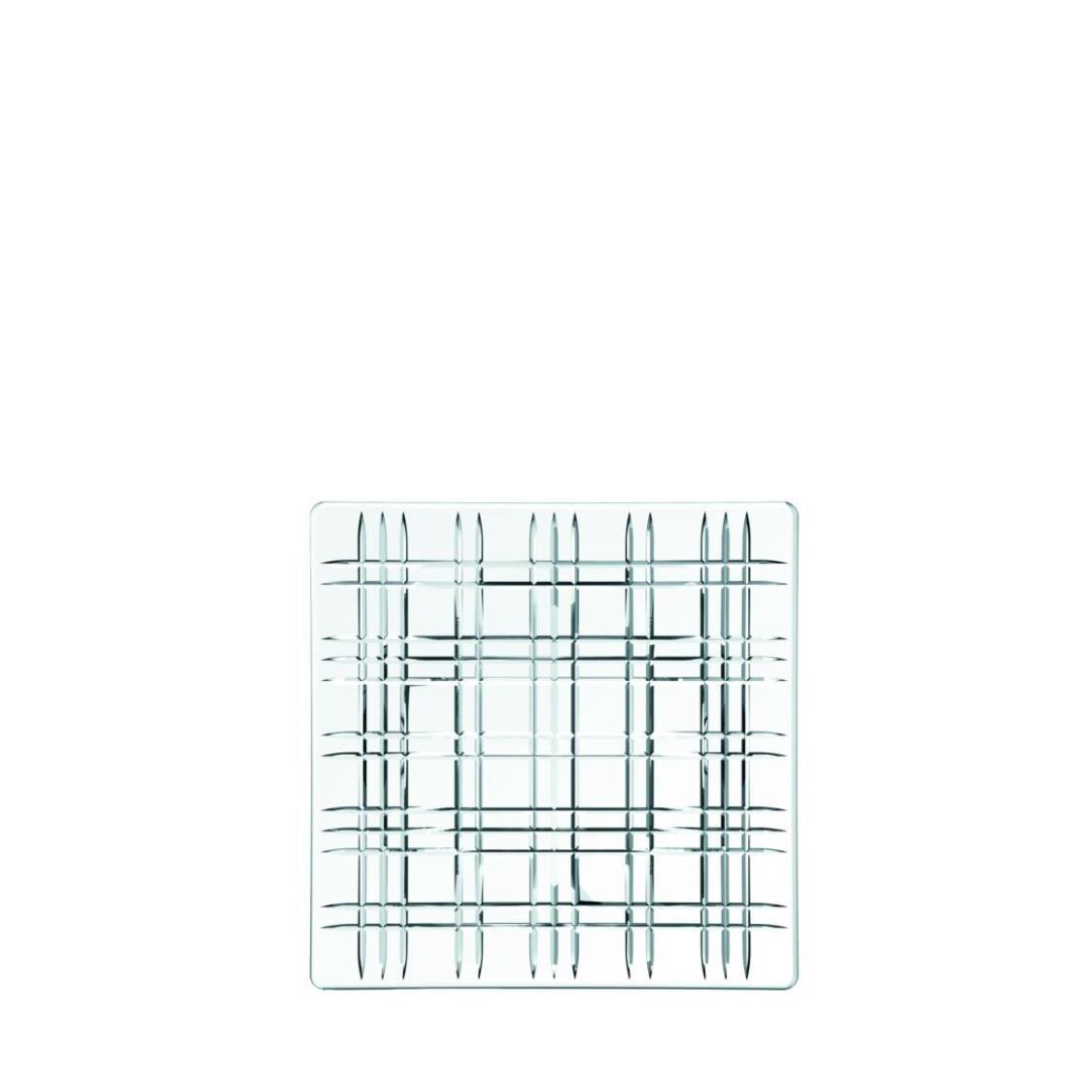 Nachtmann Lead Free Crystal Square Platter Set Of 2Pcs Square R-101045