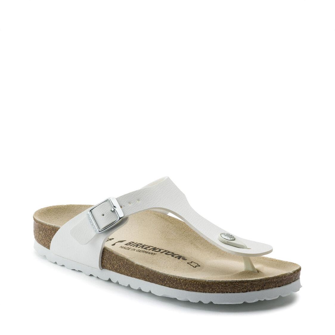 Birkenstock Gizeh Birko-Flor Unisex Regular Width Sandals White